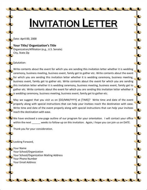Conference Committee Invitation Letter Sle Letter Invitation To A Committee Meeting Docoments Ojazlink