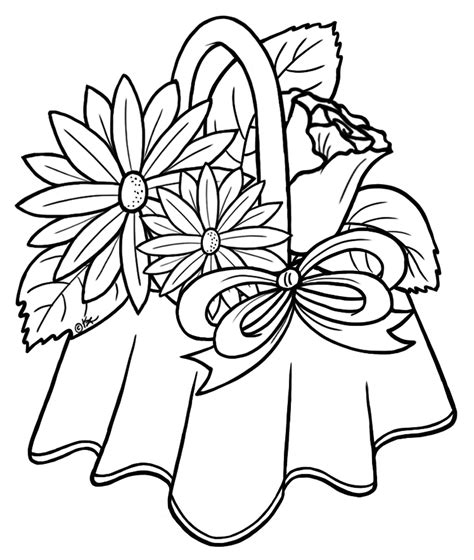 flowers for beginners an coloring book with easy and relaxing coloring pages gift for beginners books flower bouquet drawings clipart best