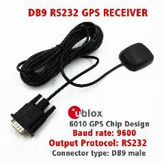 industrial applications rs232 protocol output ublox 6010 gps chip design db9 connector