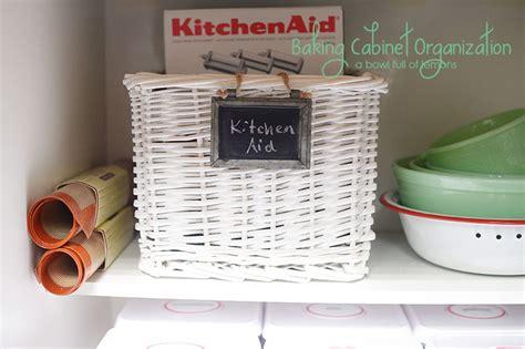 baking cabinet organization baking cabinet organization a bowl full of lemons