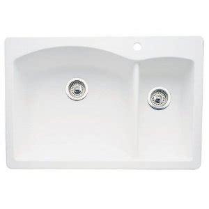 Blanco 440200 Diamond 1 1 2 Bowl Drop In Silgranit Ii Kitchen Sink White Faucetdepot Com Blanco Kitchen Sink Templates