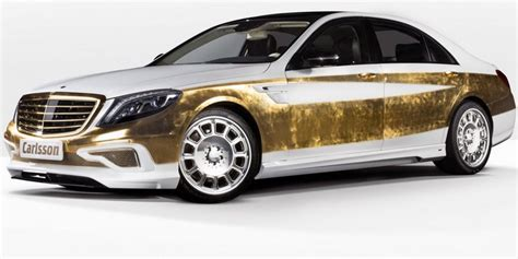 luxury car covered in real gold is the definition of