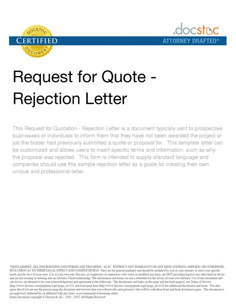 Rejection Letter For Quotation Rejection Quotes Quotesgram
