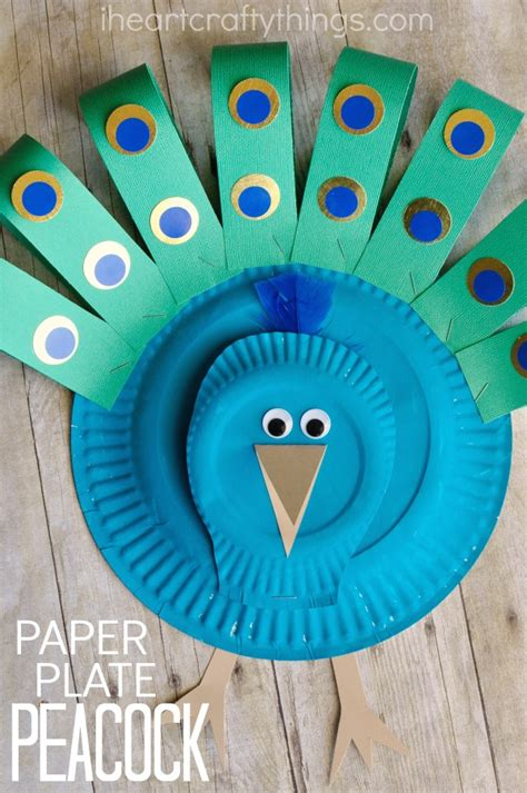Peacock Paper Plate Craft - gorgeous paper plate peacock craft i crafty things