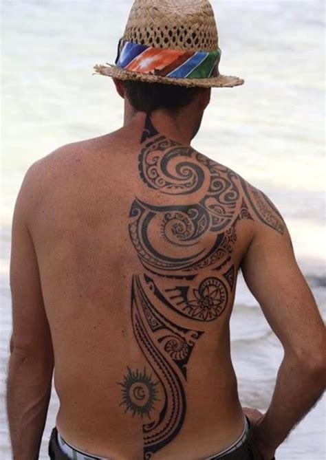 back tattoo man jumping 48 coolest polynesian tattoo designs