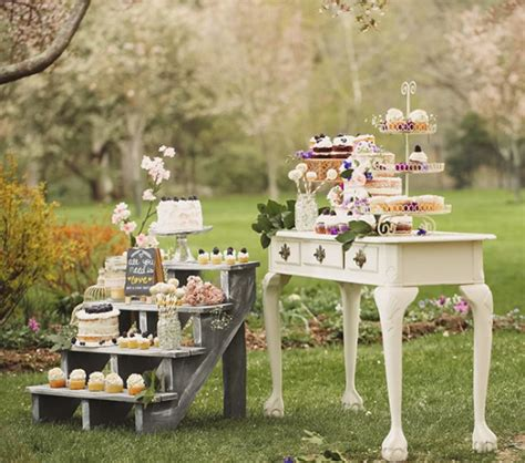 how to set up a shabby chic dessert table