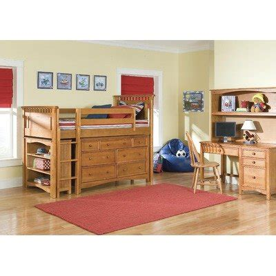 loft bed accessories bennington low loft bed in honey with wakefield