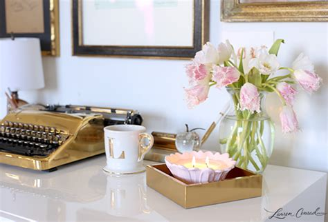 how to decorate your desk at home inspired idea how to decorate with candles lauren conrad