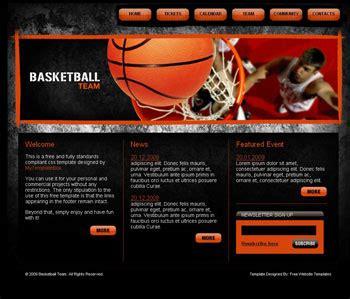 Basketball Game Plantillas Web Gratis Free Basketball Website Templates