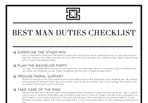 best duties checklist what are your duties as a best visions event studio