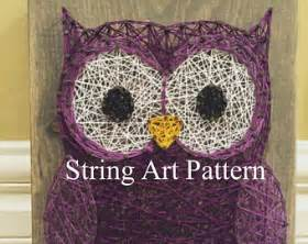 Owl String Template - owl template etsy