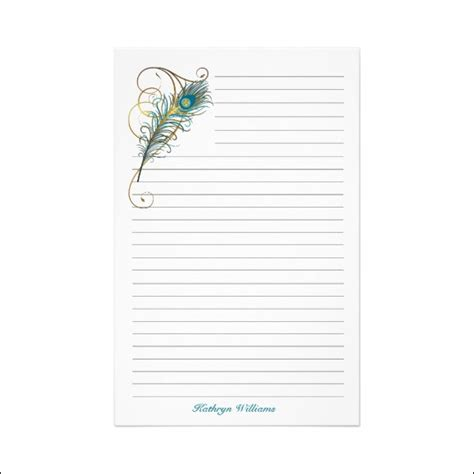7 Free Lined Paper Templates   Excel PDF Formats