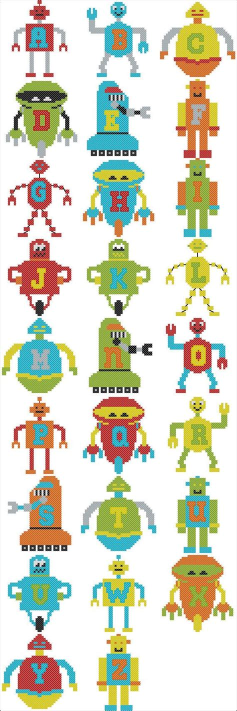 alpha robots an alphabet for all ages books crafts patterns diy and handmade ideas from craftgossip