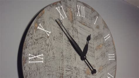 clock made of clocks 24 large rustic wall clock made from rough cut by yankeewoodworks