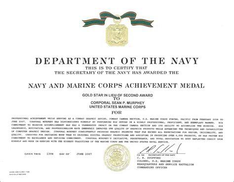 usmc certificate of commendation template usmc certificate of commendation template 28 images