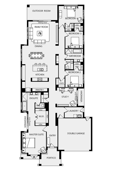 metricon floor plans single storey floor plan friday family home on residental block