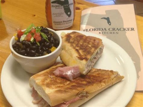 Florida Cracker Kitchen by Cuban Sandwich With Black Beans And Rice Picture Of