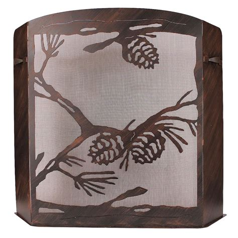 small fireplace screen small pinecone fireplace screen