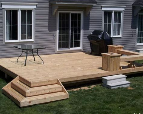 simple wood deck small deck building a deck