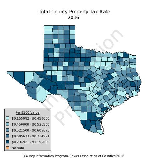 Property Tax Records Tx Counties Total County Property Tax Rate