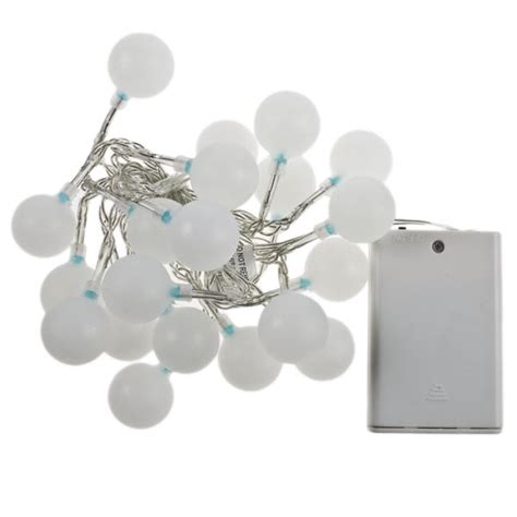 noma battery operated lights noma 1 9m set of 20 battery operated static indoor blue