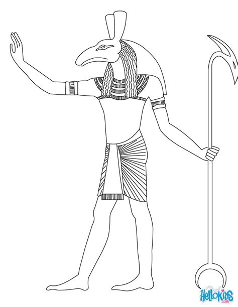 god coloring book sobek goddess gods coloring page makeup