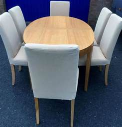 Ikea Extending Dining Table Extending Oval Dining Table And 6 Chairs Ikea Table Light Wood Chairs Home Decor