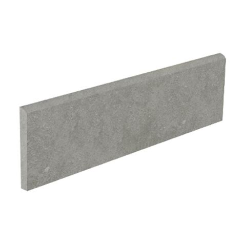 shop style selections mitte gray glazed porcelain bullnose tile common 3 in x 12 in actual 3