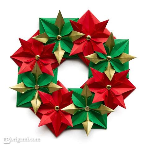 Make Origami Decorations - 45 best origami wreath images on modular