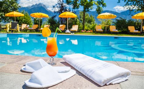 pool cocktail marlengo hotel kristall a magic atmosphere near merano