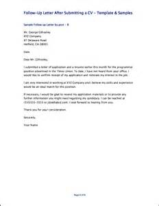 follow up letter after submitting a cv resumes design