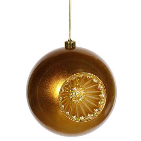 vickerman 23675 8 quot antique gold matte glitter old