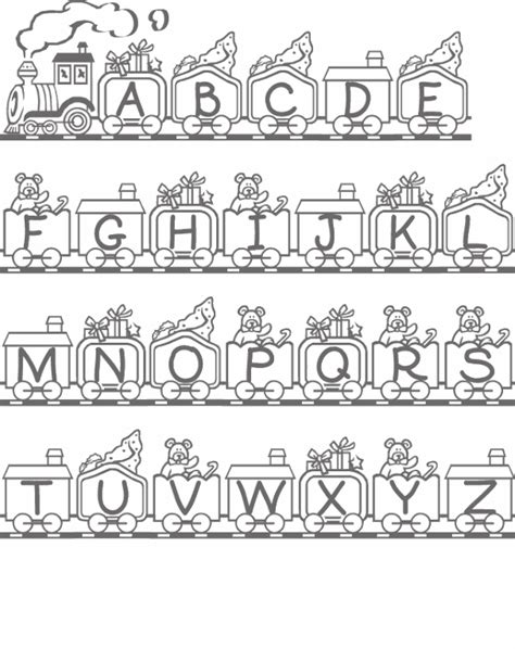 Alphabet With Toy Coloring Page Coloring Pages Of The Alphabet