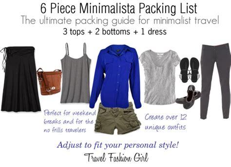 minimalist packing list 2013 travel fashion