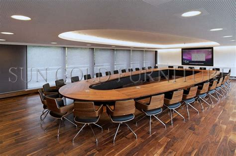 Large Oval Boardroom Table Luxury Conference Room Large Office Oval Meeting Table Design Banquet Table Sz Mt119 Buy