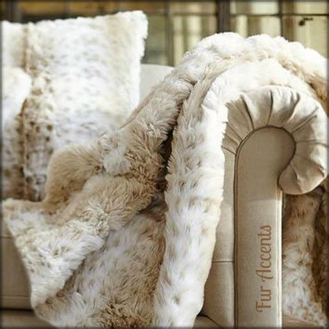 snow leopard faux fur comforter one plush faux fur throw blanket bedspread or duvet by