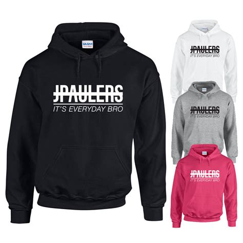 Jaket Hoodie Jake Paul Jp Black jake paul jpaulers its everyday bro hoodie youtuber