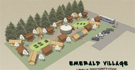 tiny house village design concept how tiny house villages could solve america s homeless epidemic emerald village concept plan