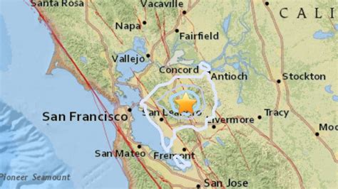 earthquake california bay area swarm of 16 earthquakes rattles san francisco bay area