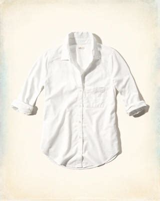 Hollister Classic Cropped Shirt shirts tops eu hollisterco