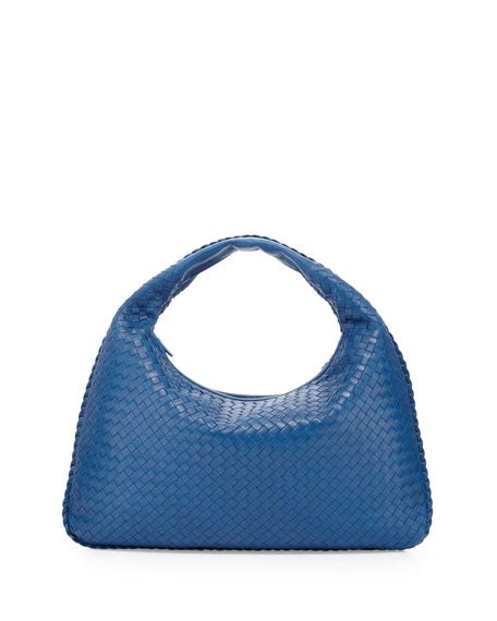 Bottega Veneta Royal Veneta Handbag by Bottega Veneta Large Lambskin Sac Hobo Bag Royal Blue