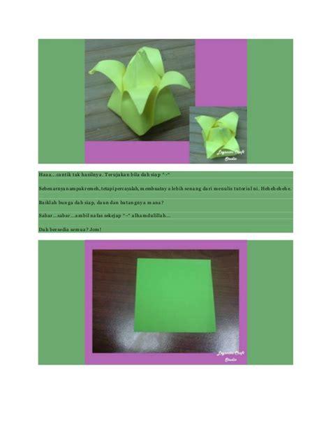 Tutorial Origami Bunga - membuat origami bunga tulip