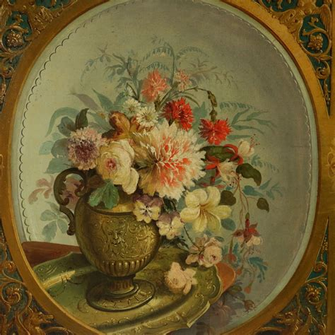 nature morte con fiori coppia di nature morte con fiori ottocento arte