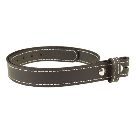 buffalo leather stitched casual belt strap no buckle 1 1 4