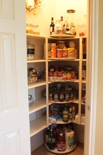 Ideas For Pantry Shelves by Clever Idea If You A Pantry With Shelves That Corner Like This Used Turntables In