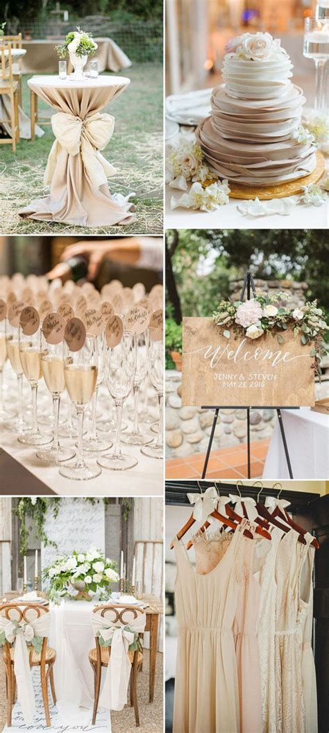 25  best ideas about Champagne wedding colors on Pinterest