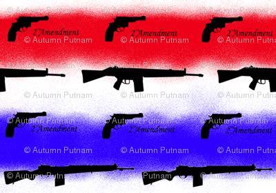 omg guns fabric bumblebbs spoonflower