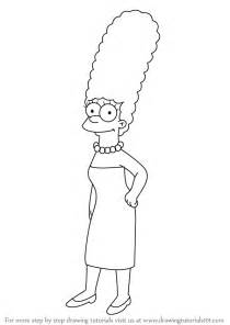 How To Draw The Simpsons On The by Step By Step How To Draw Marge From The Simpsons