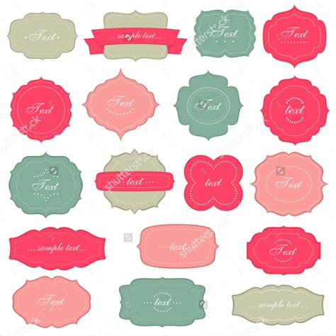 19 label templates free psd ai eps format download