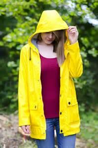 the classic yellow rain coat trend raindrops of sapphire